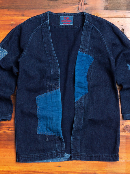 """10th Anniversary"" Haori Sashiko Shirt in Washed Indigo"