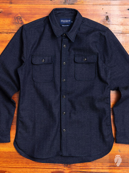 Gilroy Work Shirt in Black Indigo
