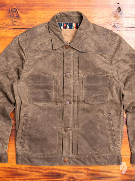 10oz Waxed Canvas Riders Jacket in Taupe