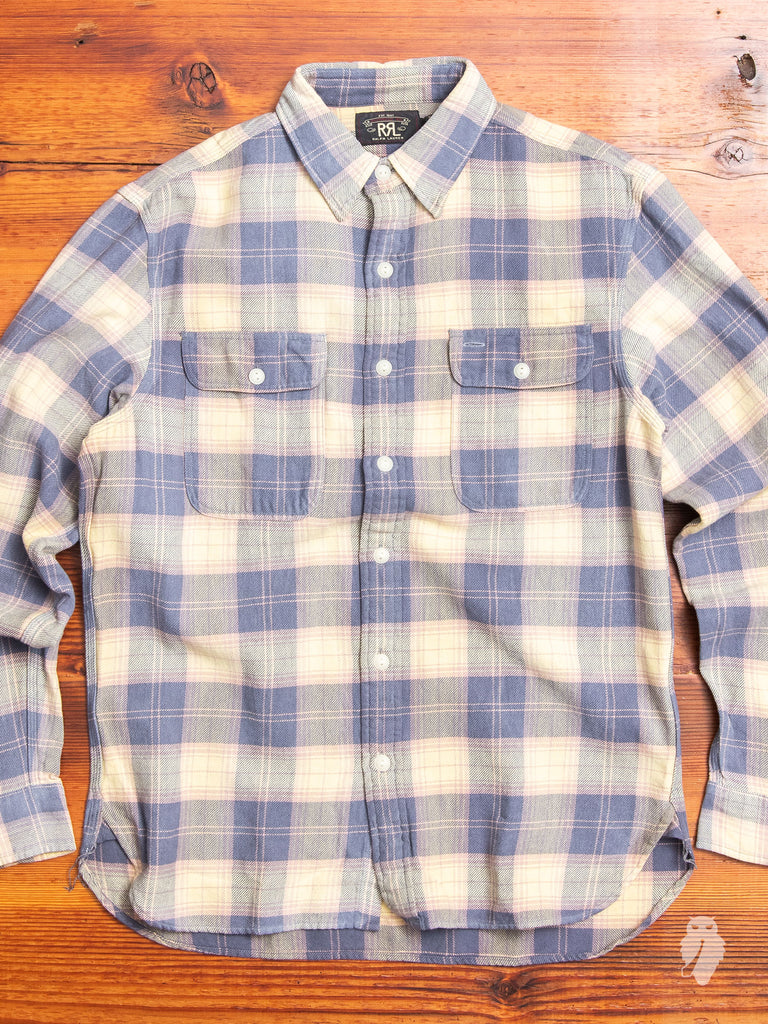 Matlock Work Shirt in Blue/Yellow