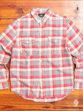 Lee Work Shirt in Red/Indigo