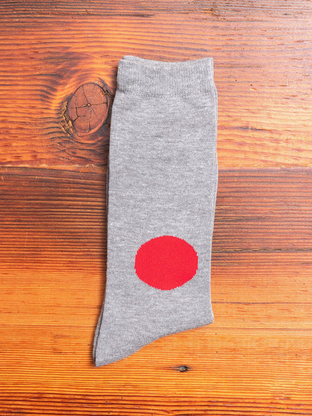 Japanese Flag Socks in Charcoal