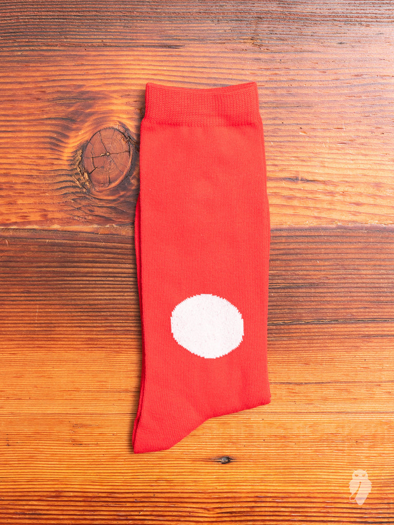 Japanese Flag Socks in Red
