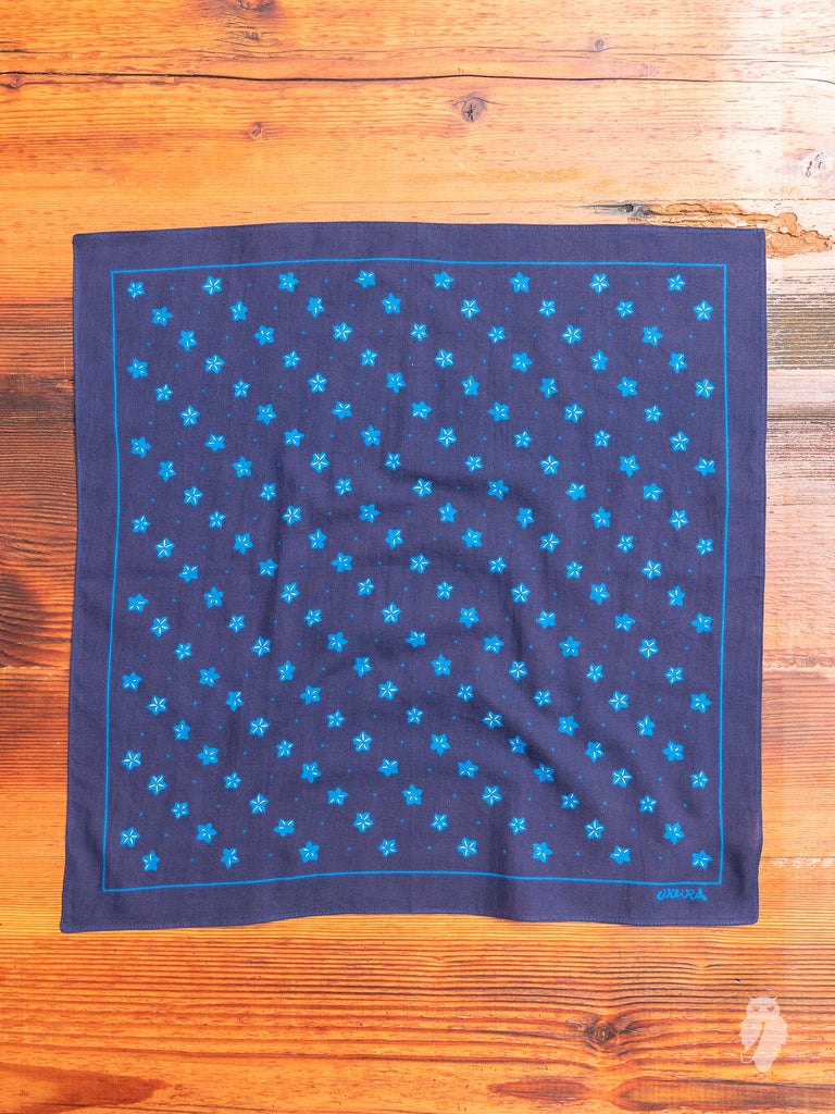 Balloon Flower Bandana in Indigo