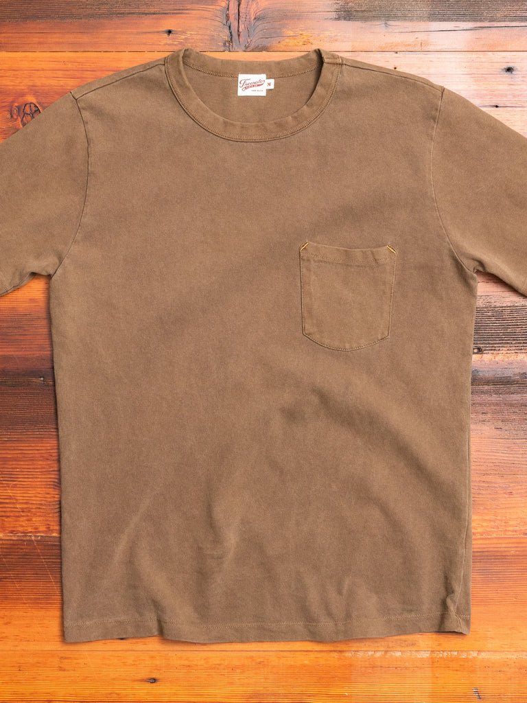 Vintage Wash Pocket T-Shirt in Dark Olive