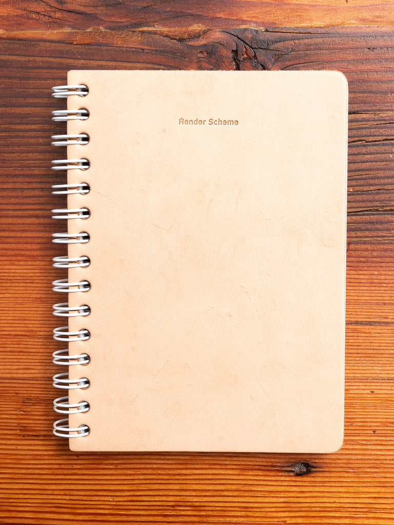 A6 Spiral Notebook in Natural