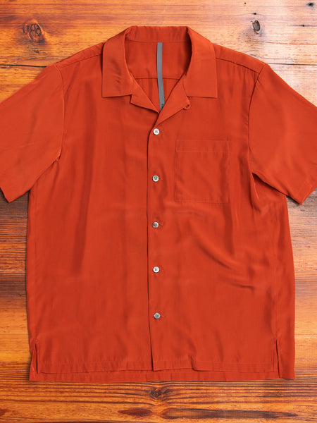 Tailored Hawaiian Shirt in Luminous Orange