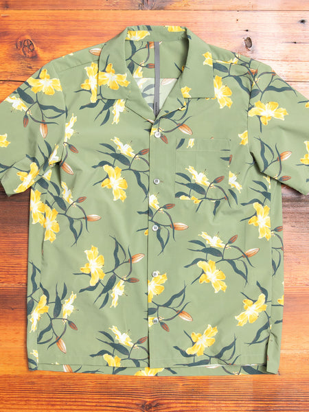 Tailored Hawaiian Shirt in Yellow Flowers