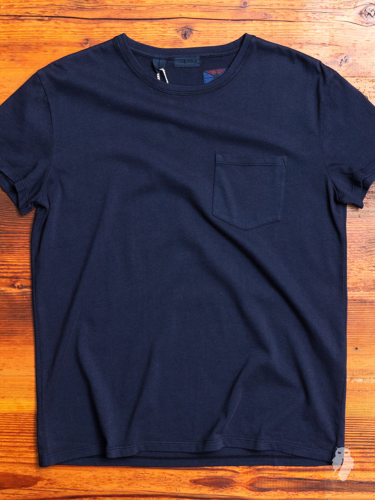 Wilson Pocket T-Shirt in Vintage Navy