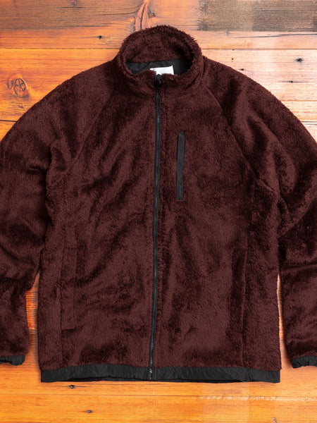 Tycho Zip Fleece Jacket in Mulberry Red
