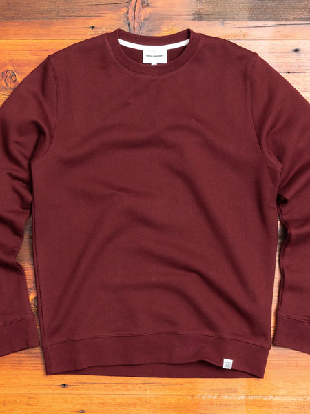 Vagn Crewneck Sweater in Mulberry Red