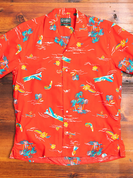 Surf & Turf Camp Shirt in Red