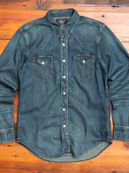 Buffalo Western Shirt in Dark Wash