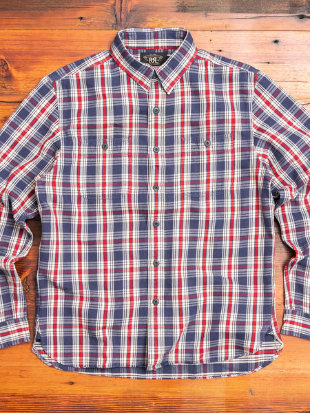 Farrell Work Shirt in Blue/Red