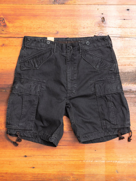 Surplus Cargo Shorts in Black