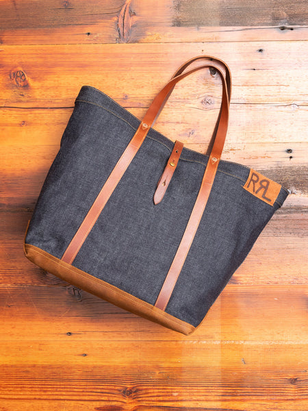 Denim Tote Bag in Indigo
