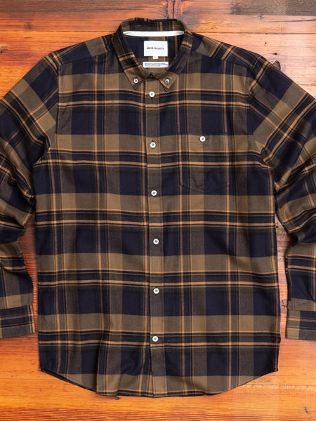 Anton Brushed Flannel in Ivy Green