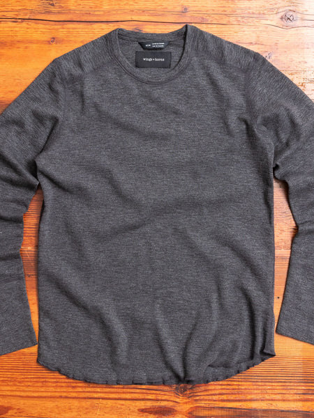 1x1 Long Sleeve T-Shirt in Heather Charcoal