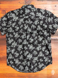 """Floral Sketch"" Button Down Shirt in Black"