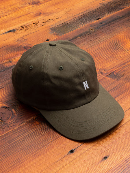 Twill Sports Cap in Ivy Green