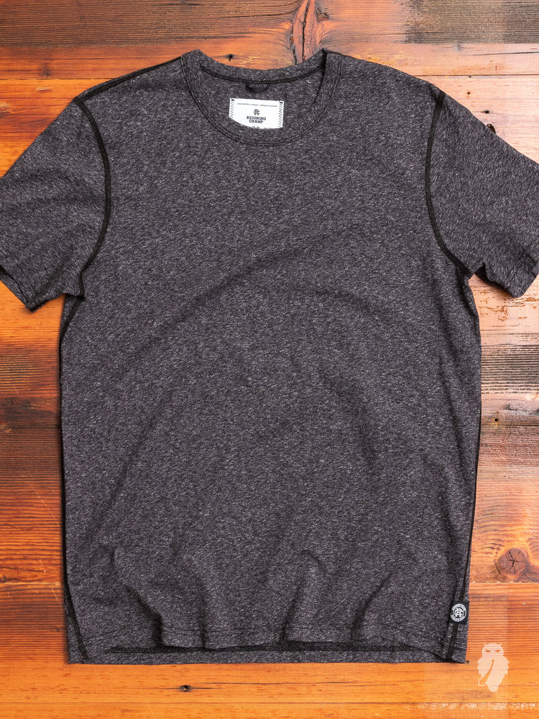Ringspun Jersey T-Shirt in Heather Black