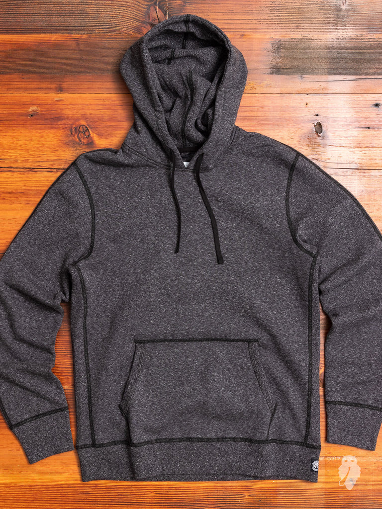 Pullover Hoodie in Heather Black