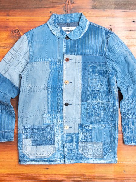 Sashiko Repair Coverall Jacket in 10-Year Wash