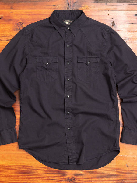 Heritage Western Shirt in Vintage Black