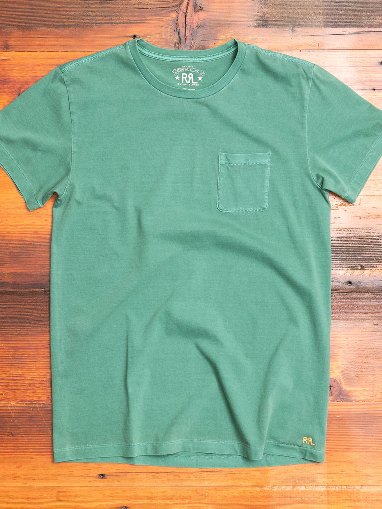 Garment-Dyed Pocket T-Shirt in Blanket Green