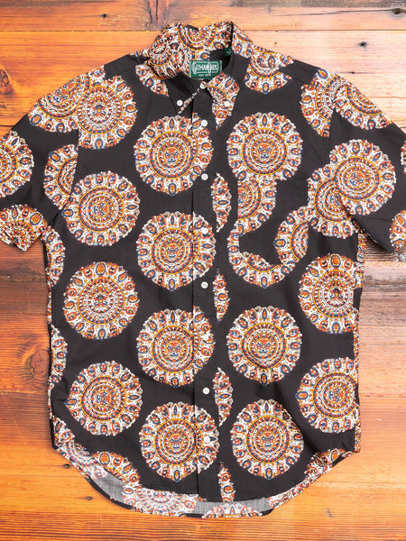Kalamkari Medallion in Vintage Black