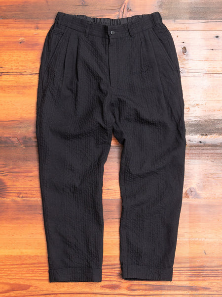 Two Tack Tapered Pants in Black