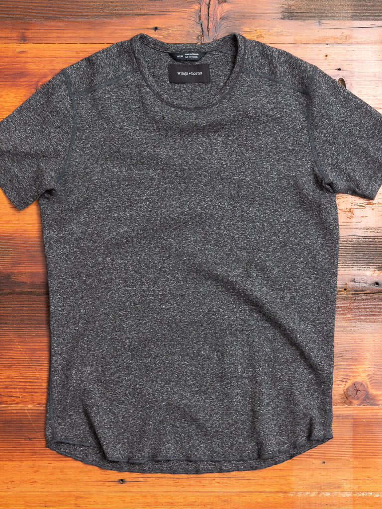 1x1 Slub T-Shirt in Marled Black