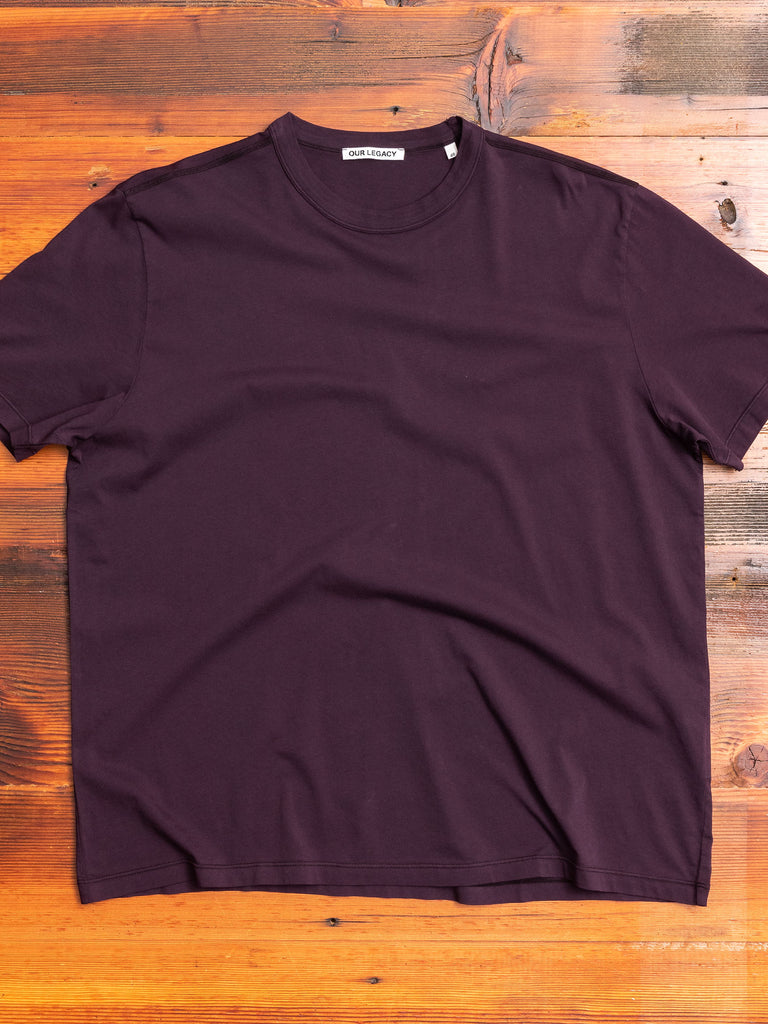 New Box T-Shirt in Plum