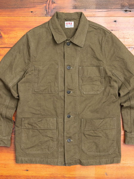 03100-HOX Heavy Canvas Jacket in Olive