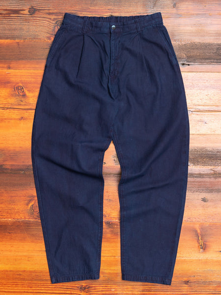 Linen Back Chino Pants in Indigo
