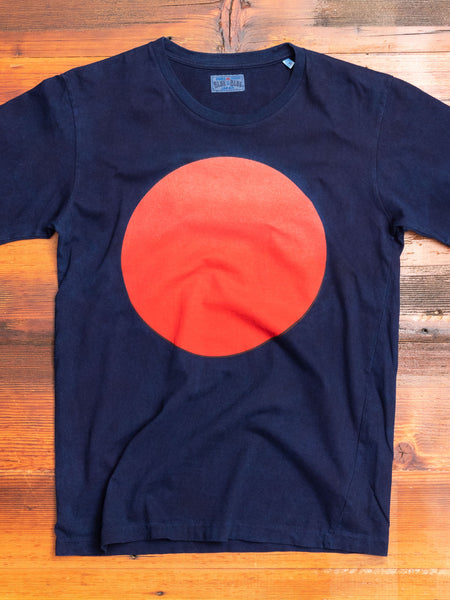 Gradation Circle Tee in Indigo