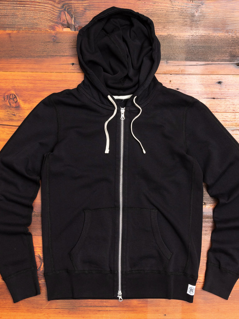 Women's Zip Hoodie in Black