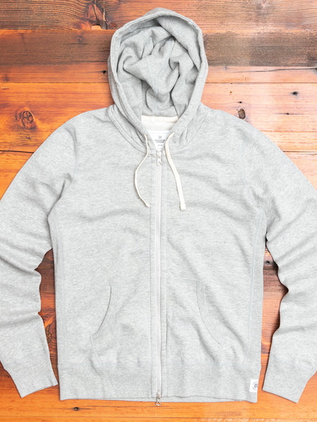 Women's Zip Hoodie in Heather Grey