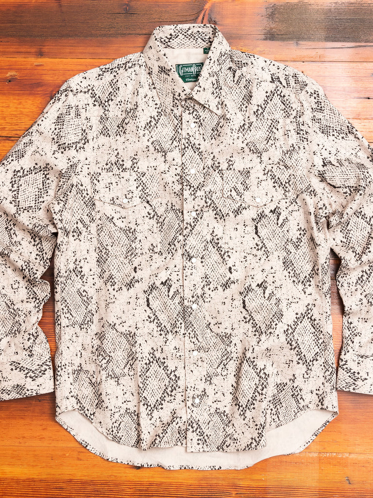 Polar Snake Western Shirt in Vintage White