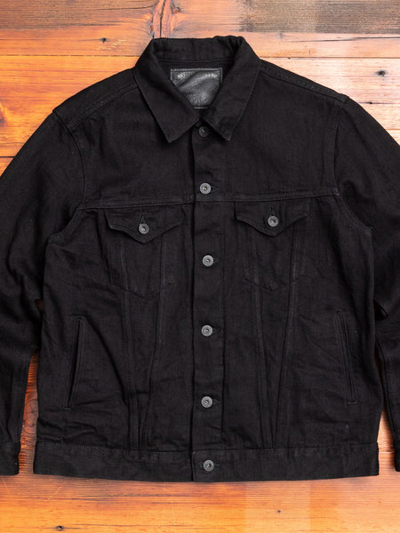 "02207P ""Kiraku-II"" 12oz Black Selvedge Denim Jacket"