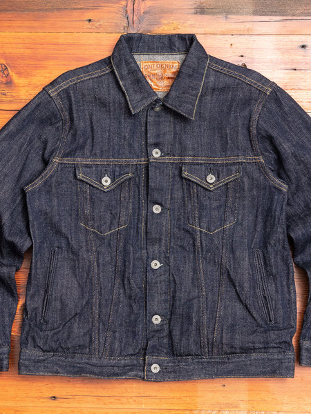 "02207P ""Kiraku-II"" 12oz Natural Indigo Selvedge Denim Jacket"
