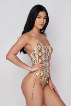Load image into Gallery viewer, He's HISStory Snake Print Bodysuit