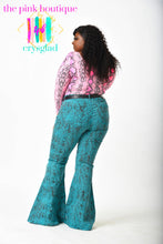 Load image into Gallery viewer, Ssssequins and Ssssnakes Flare Jeans - Curves