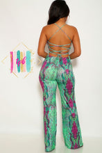 Load image into Gallery viewer, Girls With Curves: The Antidote Colorful Snake Print Jumpsuit