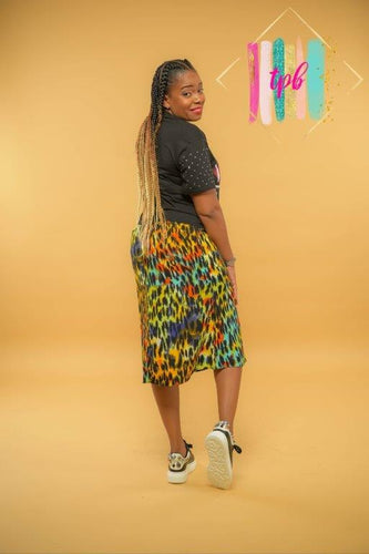 Reign Down Multicolored Leopard Print Skirt
