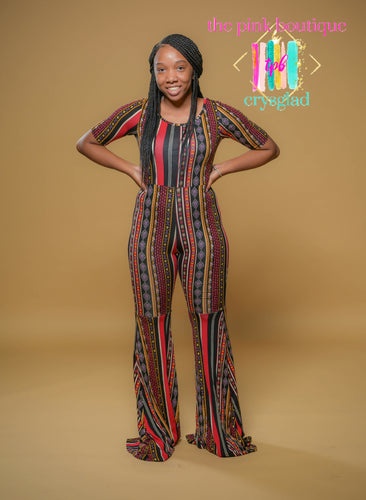 The Long Way Flare Leg Jumpsuit