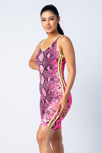 Totally Harmless Neon Snake Print Jumpsuit