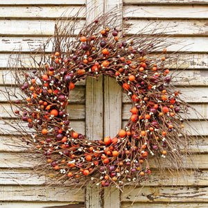 Primitive Fall Farmhouse Door Wreath