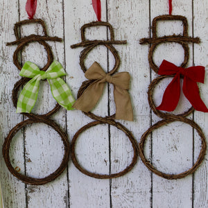 Grapevine Snowman Wreath