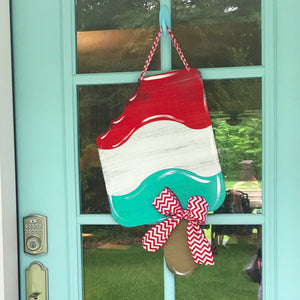 Patriotic Popsicle Door Hanger